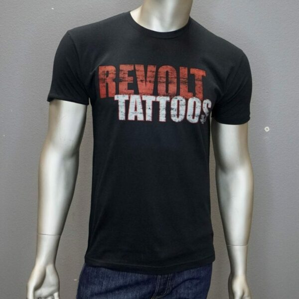 """Revolt Tattoos Distressed Logo"" (Black) 1"