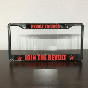 Revolt Tattoos License Plate Frame