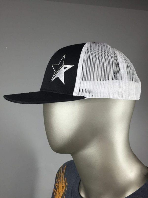 Embroidered R-Star Trucker (White & Black) 3