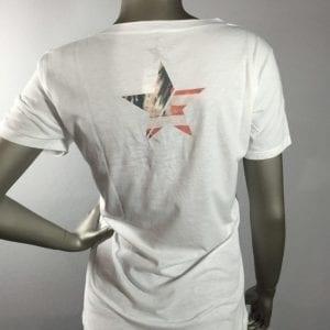 """Revolt """"Flag Girl"""" White T-Shirt"""
